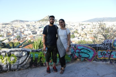 halal, athens, muslim couple, honeymoon, europe, greece, ancient greece, greek flag