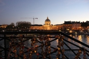 Love locked on a bridge in Paris