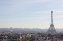 View of the beautiful city of love from the Arc de Triomph