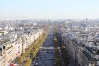 Views of Champs Elysees from the Arc de Triomph
