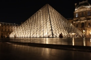 Louvre Pyramid at night