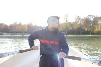 Rowing along