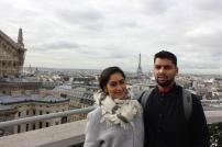 The Oprah house behind us in Paris, France