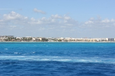 The beautiful blue waters of the sea
