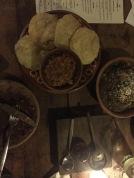 Our delicious vegan dinner at Restaurare