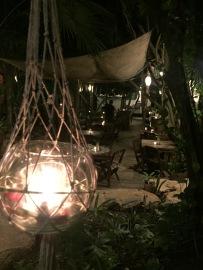 Pretty decor at Restaurare, Tulum