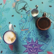 More coffee - with Frida in Cozumel