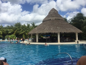 Relaxing at Paradise beach in Cozumel, Mexico