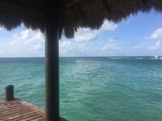 View off the pier in Cozumel, Mexico