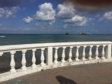 All along the boardwalk in Cozumel, you can walk right to the sand and water by these bridges
