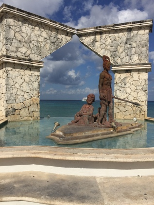 Sculptures in Cozumel