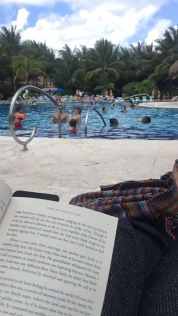Relaxing + reading at Paradise beach, Cozumel