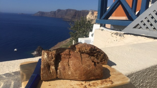 Fresh bread in Oia, Santorini