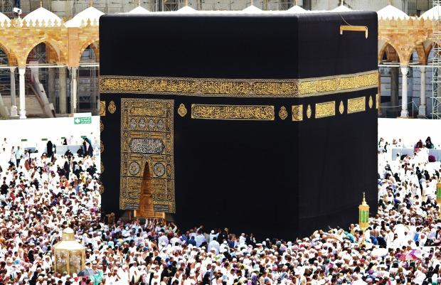 Kaaba in Masjid-al-Haram in Makkah's Grand mosque